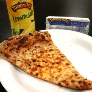 Single slice pizza meal at Dayspring Christian Academy.