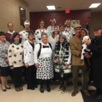 Dayspring Christian Academy staff dress up for character day during spirit week 2017