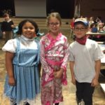 Dayspring Christian Academy students dress up for character day during spirit week.