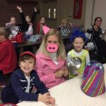 Lower school students and teachers dress up for character day during spirit week 2017