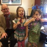 Dayspring Christian academy lower school students and headmaster participate in wacky wednesday during spirit week