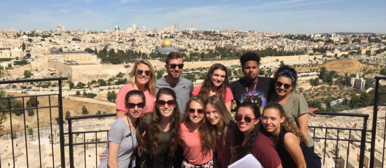 Dayspring Christian Academy seniors on field study in the holy land