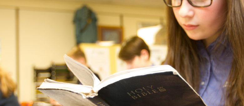dayspring student studies bible in class