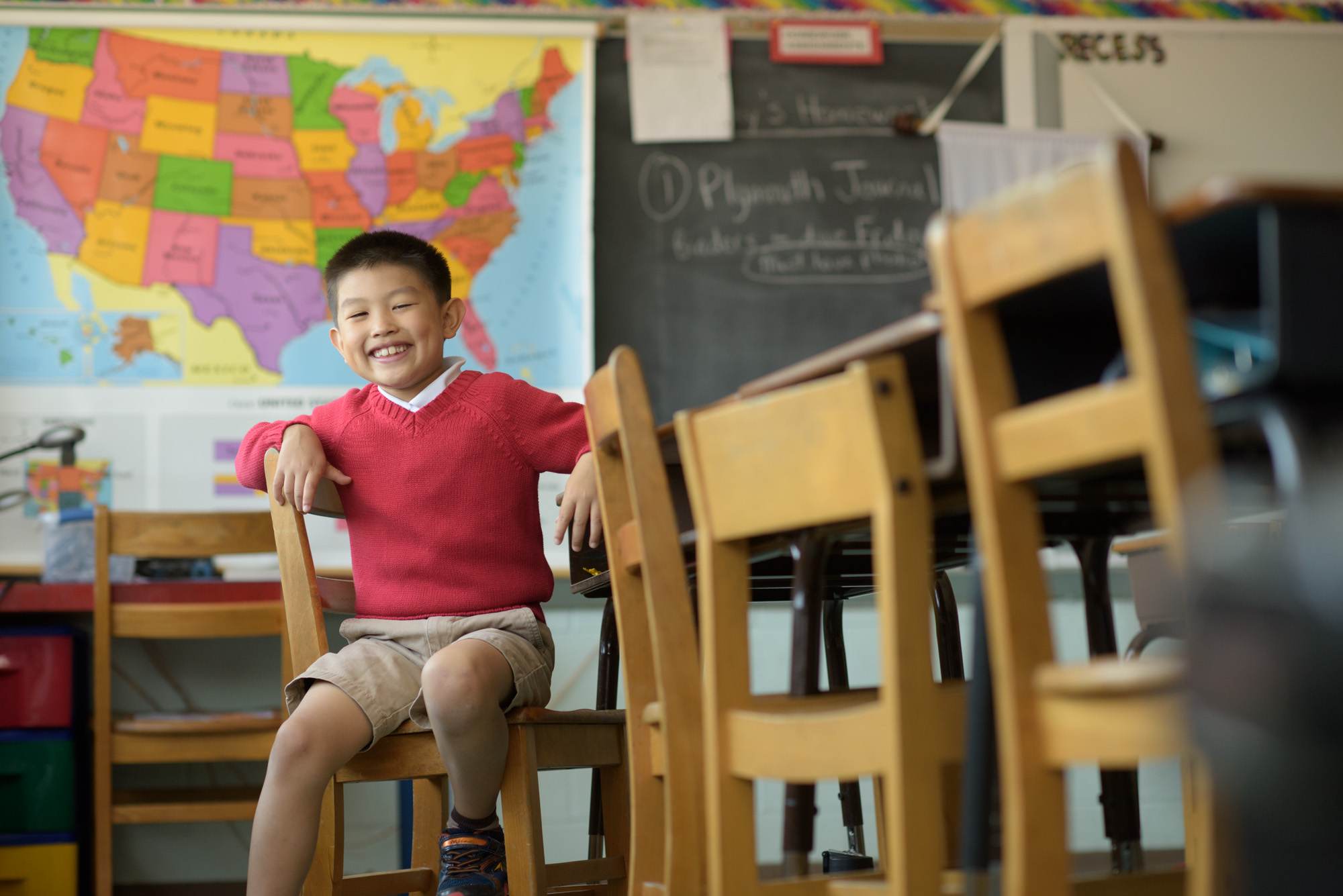 lower school student in classroom at dayspring christian academy