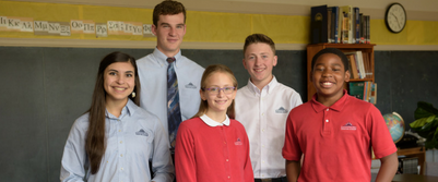 Lower and upper school students at dayspring christian academy