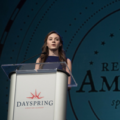 student shares oration at remember america speaker series