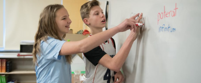 Dayspring students practice different languages