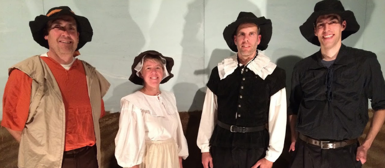 Volunteers act out Pilgrim voyage at Thanksgiving Exposed