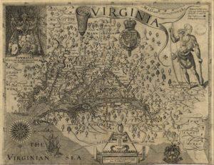 Captain John Smith's Map of America, 1624. Public Domain.