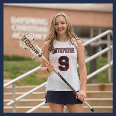 Christian High School Female Lacrosse Player