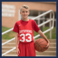 Christian middle school student basketball athlete