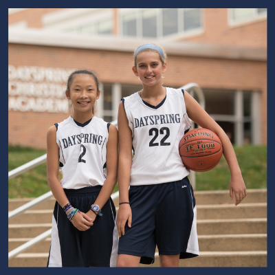 Christian middle school student girl basketball athlete