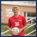 Male Christian High School Sports Team Player with Ball
