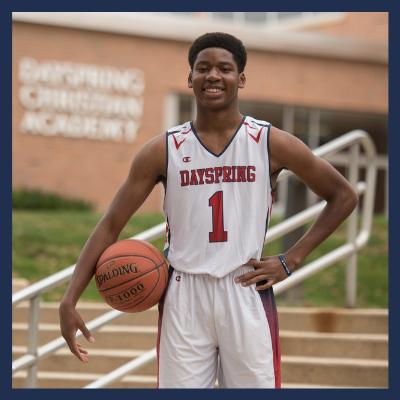 Christian High School Male Basketball Player