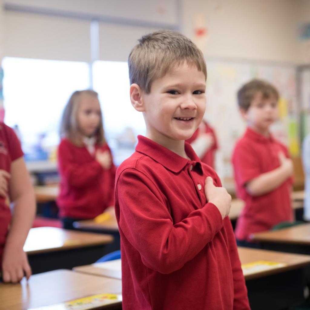 Christian Kindergarten in Lancaster, PA Pledge of Allegiance
