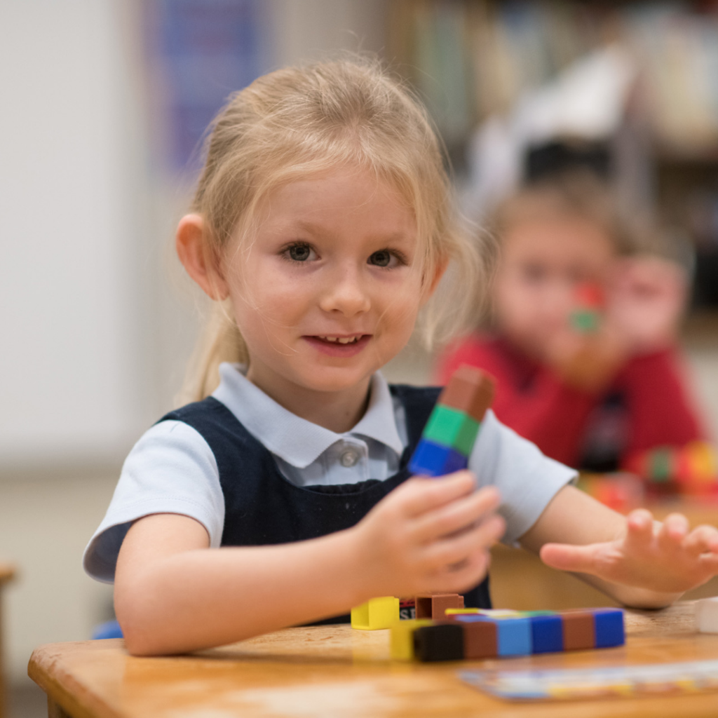 Pre-K in Lancaster PA Girl Learning and Growing
