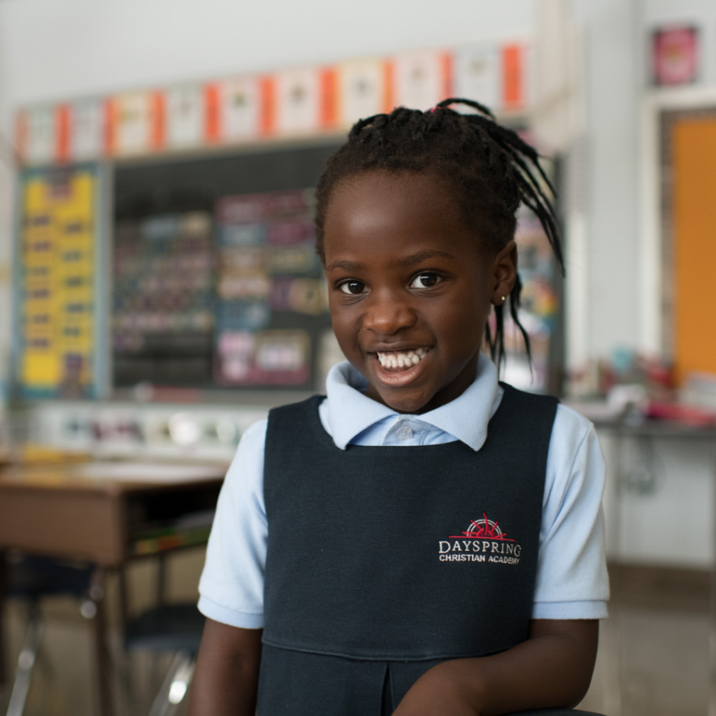Christian Preschool Smiling Student Girl