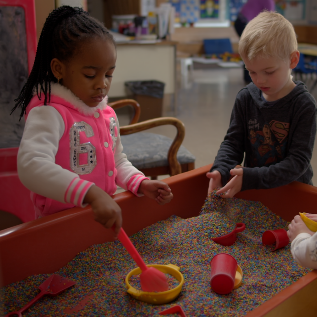Two Christian Preschool Students Playing Together